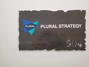 Plural Strategy New York office signage