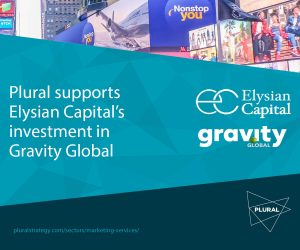 Plural Strategy supports Elysian Capital investment in Gravity Global